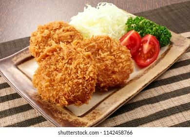 Tonkatsu are tender deep-fried pork cutlets served Japanese-style