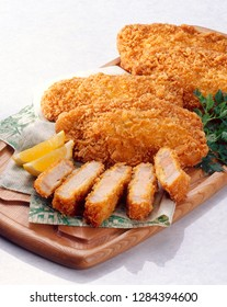 Tonkatsu are tender deep-fried pork cutlets served Japanese-style