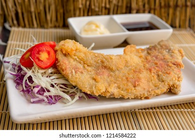 Tonkatsu,Japanese style Pork Cutlet deep fried pork or tonkatsu set