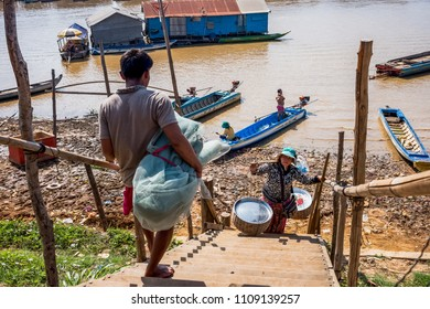 TONLE SAP FLOATING VILLAGES – JANUARY 8, Watching the locals go about their daily lives in their extraordinary aquatic environment provides for an intriguing atmosphere - Siem Reap, Cambodia