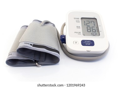 Tonometer for Blood Pressure Isolated on White.