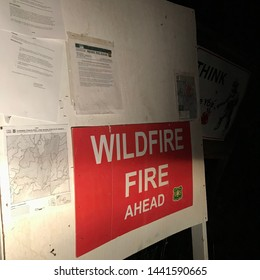 Tonto National Forest, Arizona / US - June 29, 2019: Informational forest fire warning signs. 4618