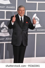 Tony Bennett at the 54th Annual Grammy Awards at the Staples Centre, Los Angeles. February 12, 2012  Los Angeles, CA Picture: Paul Smith / Featureflash
