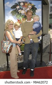 TONY HAWK & family at the Los Angeles premiere of Rugrats Go Wild. June 1, 2003