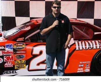 Tony Stewart In Front of His Car
