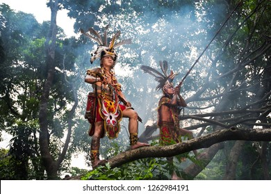 Took this photo in Jakarta, a conceptual photography for Dayak Tribes from Kalimantan in April 30, 2016 at Jakarta City Forest.