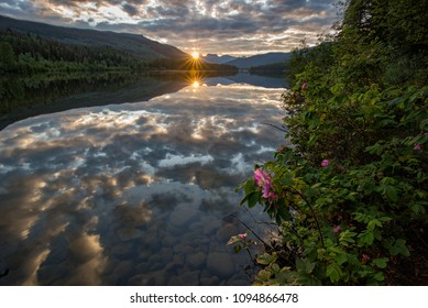 Took this at sunrise at Lucerne lake which is an amazing little campsite not far from Jasper, Alberta, Canada.