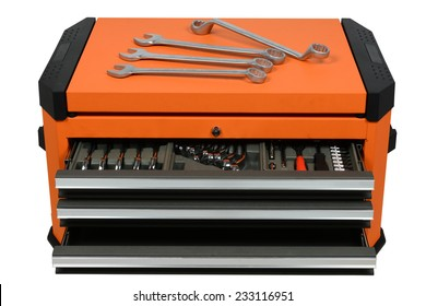 Tool Cabinets on white background