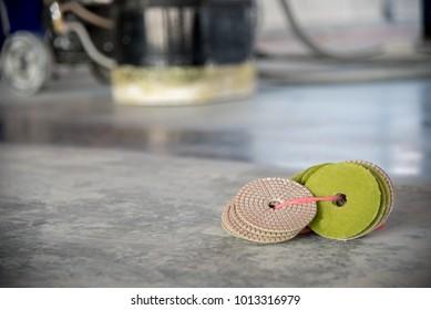 Tool cleaning floor or epoxy polishing concrete floor