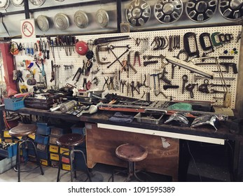 Tool Storage & Garage Organization. Garage pegboard tool organizers