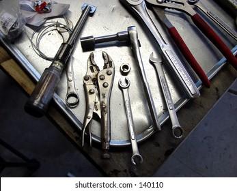 Tool tray.