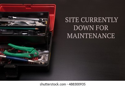 toolbox fill with pliers,wrench,cable cutter for servicing and repairing copyspace maintenance