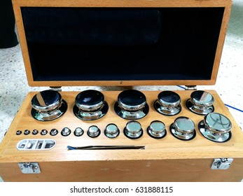 Tools for calibrating weight scales.