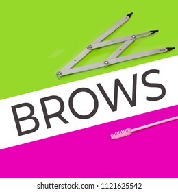 tools for correction and coloring of eyebrows, permanentmakeup
