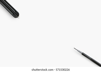 Tools to design new project in isolated background,Architect drawing tools,Office tools diagonal pencil,Drawing tools,Designer tools for sketch idea,Business idea sketch concept for designer.