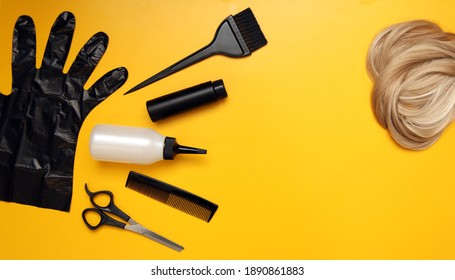 tools for the hairdresser. haircut at home during the period of isolation