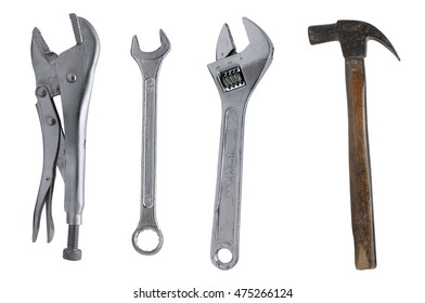 tools isolated on white background.