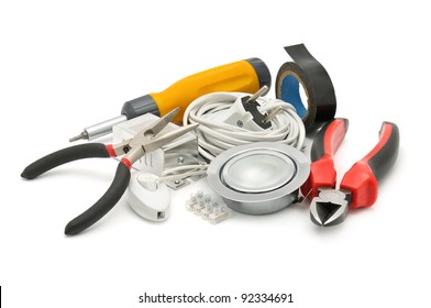 tools isolated on a white background