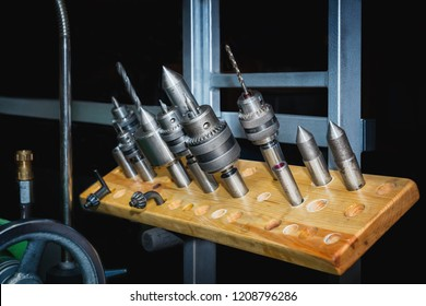 Tools for a  lathe machine. Close up.
