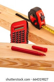 Tools and lumber for building project