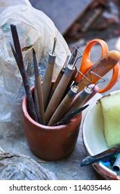 Tools sculpture art pottery.