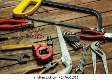 tools in the workshop on the table