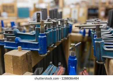Tools in a workshop, Spain