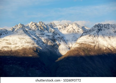 Tooth Peaks close up, Glenorchy, New Zealand