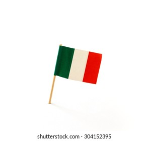 Tooth pick with a small paper flag of Italy