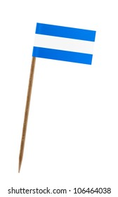 Tooth pick wit a small paper flag of Nicaragua