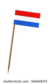 Tooth pick wit a small paper flag of Luxembourg