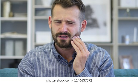 Toothache, Adult Man with Tooth Infection