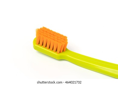 Toothbrush isolated on white background. Close-up view.