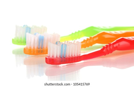 Toothbrushes isolated on white