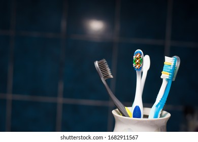 toothbrushes on a light background