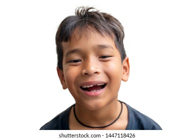 Toothless child Laughing, looking at the camera