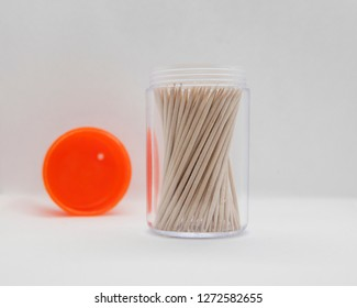 toothpick container and white background