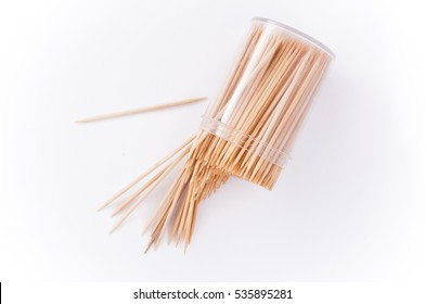 Toothpick on the white, Falling, Toothpick spill, Toothpick slant, Toothpick splatter