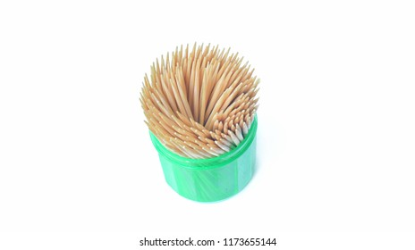A toothpick placed on a white background.