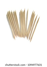 Toothpick white background. Objects.