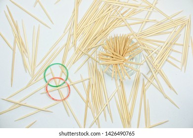 toothpick with white background,toothpick  from Thailand
