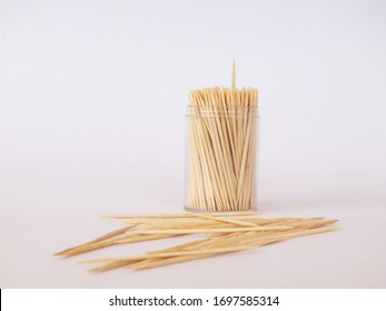 toothpicks in a box on a white background.