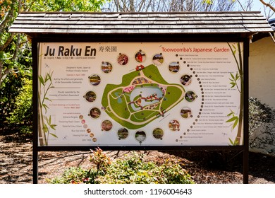 Toowoomba, Queensland/ Australia - October 2 2018: Japanese Garden Ju Raku En, University of Southern Queensland