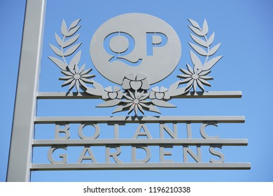 Toowoomba, Queensland/ Australia - October 2 2018: Toowoomba Queens Park and Botanic Gardens Sign