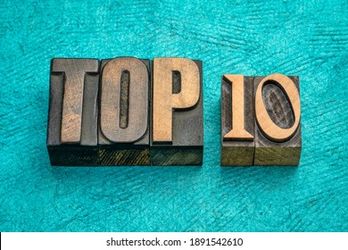 top 10 word abstract in vintage letterpress wood type, review and selection