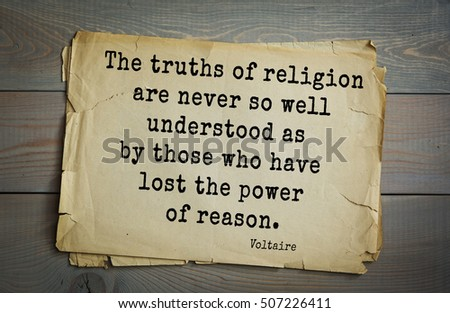 Top 50 Quotes By Voltaire French Stock Photo Edit Now 507226411