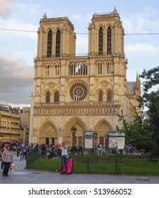 The top attractions in Paris - famous Notre Dame Cathedral - PARIS / FRANCE - SEPTEMBER 25, 2016