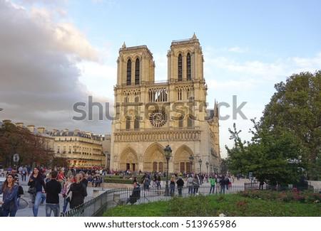 Top Attractions Paris Famous Notre Dame Stock Photo Edit Now