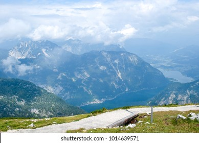 At the top of Austrian Alps on the way to 5 fingers viewpoint