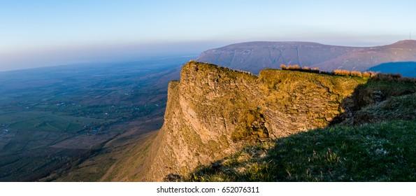 The top of Benbulben Mountain in Sligo Ireland.